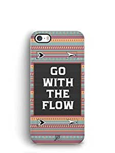 YuBingo Go with the Flow Mobile Case Back Cover for Apple iPhone SE