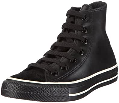 Converse CT AS HI Leather black 102622, Unisex - Erwachsene, Sneaker, Schwarz (black), EU 35 (US 3)