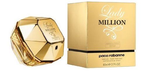 PACO RABANNE LADY MILLION ABSOLUTELY GOLD by Paco Rabanne for WOMEN: PARFUM SPRAY 2.7 OZ
