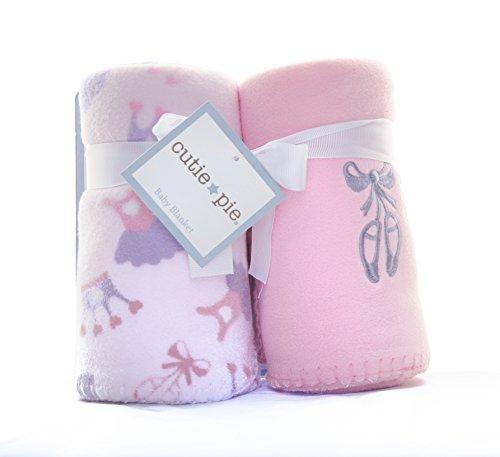 Baby Girl Set of Fleece Blankets - 1