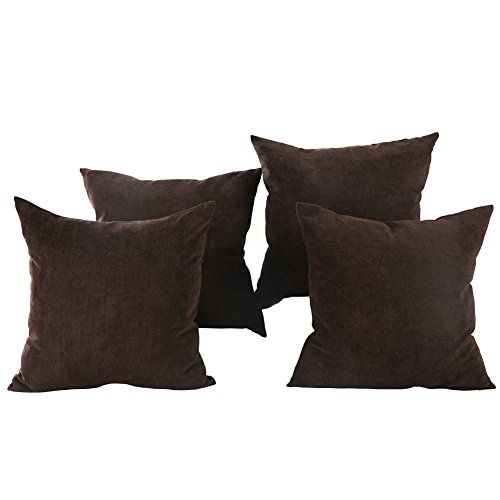 Brown Corduroy Throw Pillow : Deconovo Brown Corduroy Home Decorative Hand Made Pillow Case Cushion Cover With Invisible ...