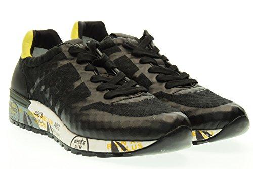 PREMIATA uomo sneakers basse LANDER 1724 43 Nero-giallo