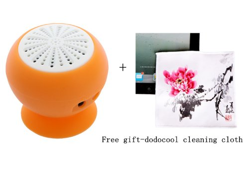 Mini Stereo Bluetooth Speaker Subwoofer Bass Sound Box For Iphone Ipod Ipad Handsfree Mic Car Suction Cup (Orange)