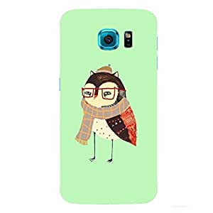 Back cover for Samsung Galaxy S6 Winter Owl