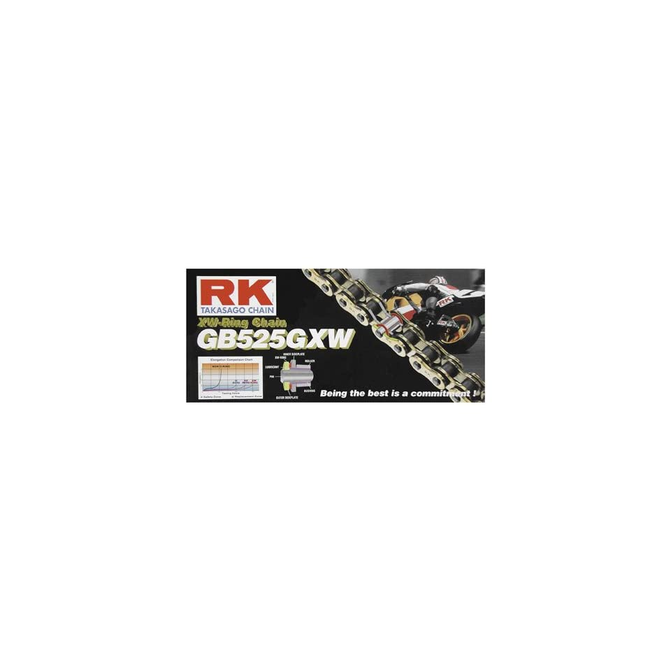 RK Racing Chain GB520GXW-150 Gold Finish 150-Links Ultra High-Performance Sport//Road Race XW-Ring Motorcycle Chain