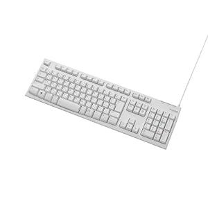 ELECOM キーボード メンブレン式 USB接続 108キー 1000万回高耐久 ホワイト