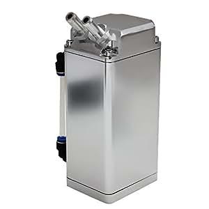 life_mart 汎用 アルミ製 オイルキャッチタンク 500ml ホース付き 四角型