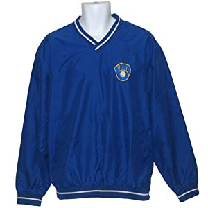 Milwaukee Brewers Mens Cooperstown Collection Retro Logo Pullover Jacket by G-III Sports