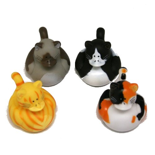 Fun Express Vinyl Cat Rubber Duckies (1 Dozen) - 1