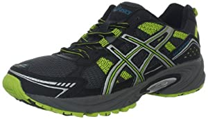 ASICS Men's GEL-Venture 4 Running Shoe,Black/Lightning/Lime,14 M US
