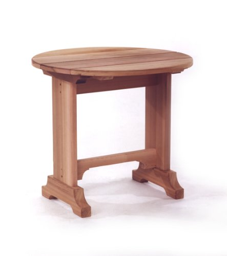 All Things Cedar Round Side Table Patio Side Tables
