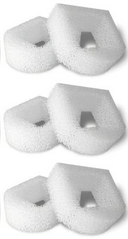 6 Foam Pre-Filters for Drinkwell Stainless Steel 360, Lotus, Avalon, Pagoda Water Bowl Fountains (Drinkwell Brand)