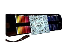 48 Professional Art Colored Pencils, Non-toxic Drawing Oil Pencils, Supplies with Roll UP Washable Canvas Pencil Bag: Enhance your creativity with this adult coloring book \