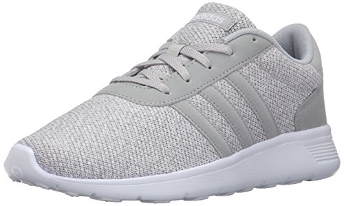 Adidas NEO Women's Lite Racer W Running Shoe, Clear Onix/Light Onix/White, 8 M US