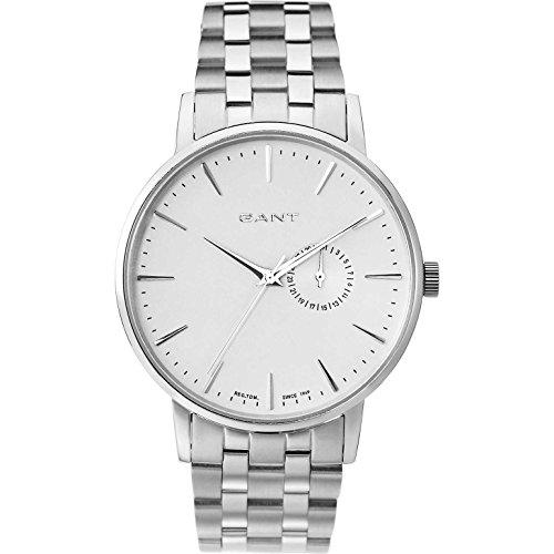 Gant W10845 - Reloj para hombres, correa de acero inoxidable color plateado