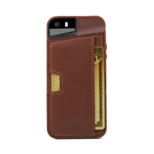 Best iPhone 5s Wallet Case – Q Card Case for iPhone 5/5s by CM4 – Mahogany Brown – [Ultra Slim Protective iPhone Wallet] (online)