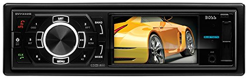 BOSS AUDIO BV7332B Single-DIN 3.2 inch Screen DVD Player Receiver, Bluetooth, Detachable Front Panel, Wireless Remote