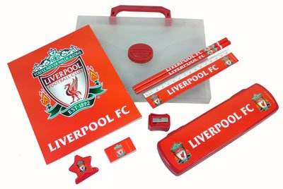 Liverpool FC Stationery Set In Carry Case - Football Gifts