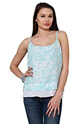 Tribal Print Two Layer Cami Top