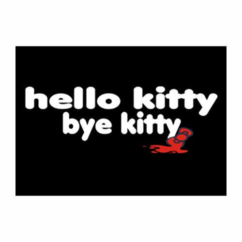 Teeburon Hello Kitty bye kitty Sticker Pacchetto di 4