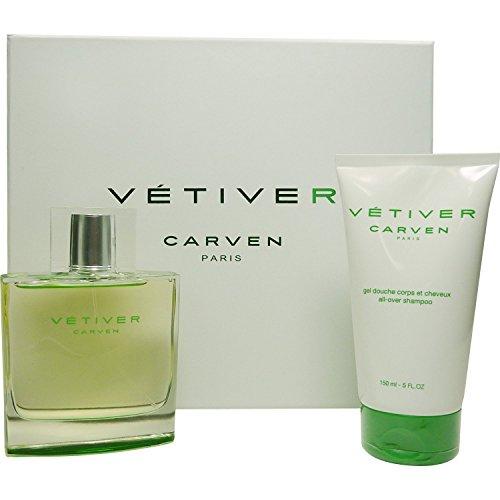 Set regalo Vetiver di Carven-Eau de Toilette 100ml + Doccia Gel 150ml.