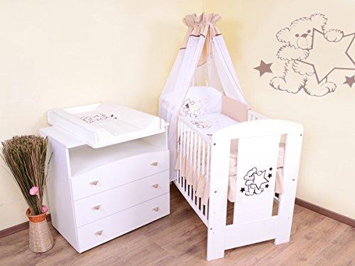 Babyzimmer-sparset-incl-Babybett-Wickelkommode-Ausstattung-Komplettset-beige