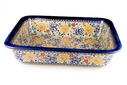 Polish Pottery Butterfly Lasagna Dish