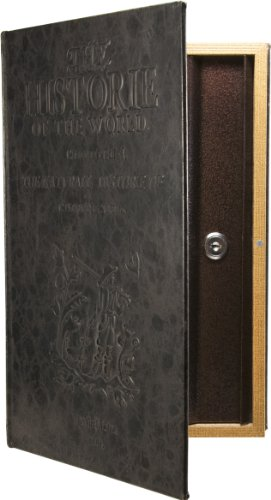 Barska Large Antique Book Lock Box with Key Lock