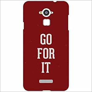 Coolpad Note 3 Back Cover - Silicon Go for it Designer Cases