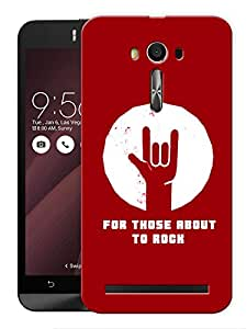 """Humor Gang For Those About To Rock Printed Designer Mobile Back Cover For """"Asus Zenfone Selfie"""" (3D, Matte, Premium Quality Snap On Case)"""