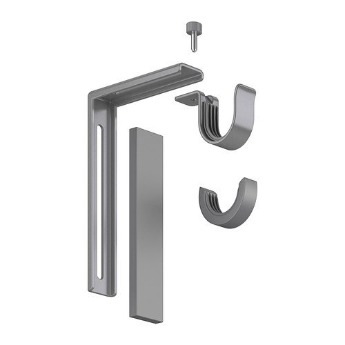 Ikea Silver Betydlig Curtain Rod Wall or Ceiling Adjustable Bracket Drapes Hardware (Ceiling Bracket For Curtain Rod compare prices)