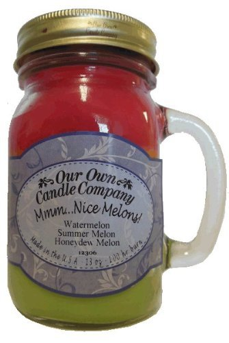 13oz MMM... NICE MELONS! Scented Jar Candle (Our Own Candle Company Brand) Made in USA - 100 hr burn (1)