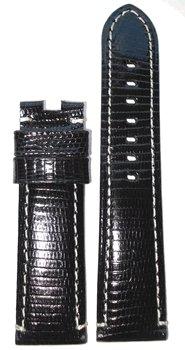 Panatime 22Mm Xl Genuine Lizard Black To Fit Original Deploy Buckle