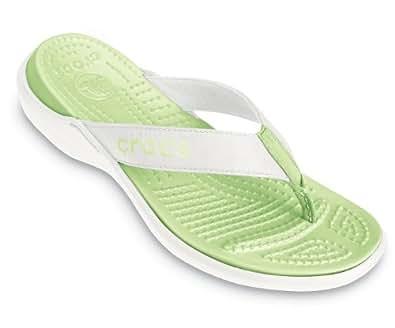 Crocs Women's Capri,White/Celery,US 4 M