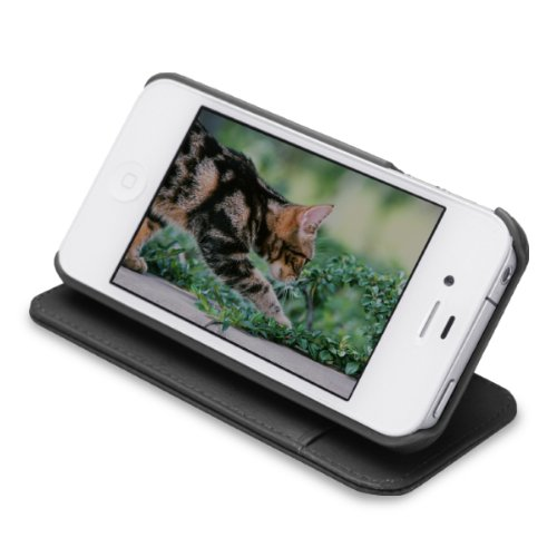 【正規品】 TUNEWERE TUNEFOLIO for iPhone 4S/4 ブラック TUN-PH-118