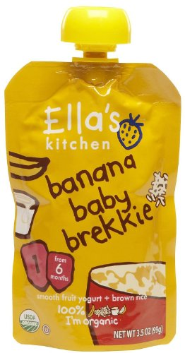 Ellas Kitchen Banana Baby Organic Brekkie for Stage 1 Baby, 3.5 Ounce -- 7 per case. - 1