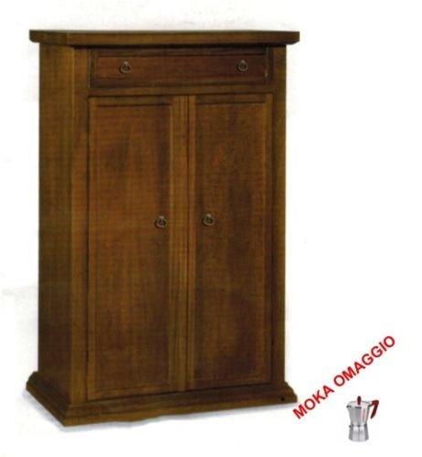 CLASSICO scarpiera mobile 2 ante legno 1 cassetto sala soggiorno camera 480 87x40x110