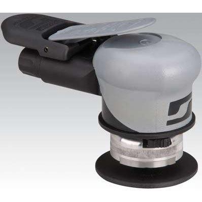 "Dynabrade 69540 3"" (76mm) Dia. Palm-Style Random/Rotary Orbit Sander/Buffer, .2 hp, 12000 rpm, 3/16"" (5mm) Orbit, Rear Exhaust, 1/4""-20 Spindle Thread"