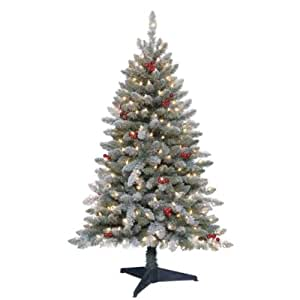 Trim a Home® 4.5 Ft. Pre-lit Newberry Pine Artificial Christmas Tree with Clear Lights