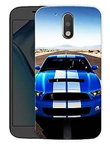 "Mustang Shelby LovePrinted Designer Mobile Back Cover For ""Motorola Moto G4"" (3D, Matte, Premium Quality Snap On Case)"