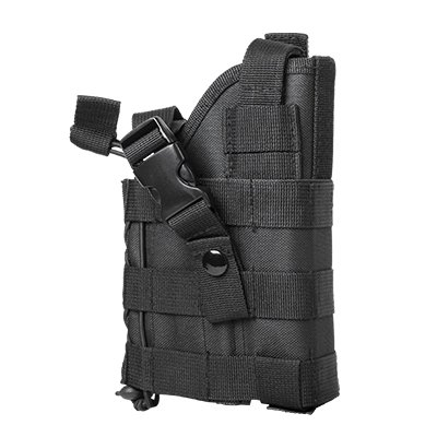 M1SURPLUS Black Tactical Ambidextrous Modular MOLLE Holster Fits Glock 17 20 21 22 37 31 , SIG P229 P226 P250 SP2022 Mosquito , Hk H&k USP P2000, S&W M&P , Beretta M9 92 96 PX4 PX9 Storm, Taurus 24/7 OSS PT92, CZ75, FN FNX FNS Springfiled XD Colt .45 Kimb