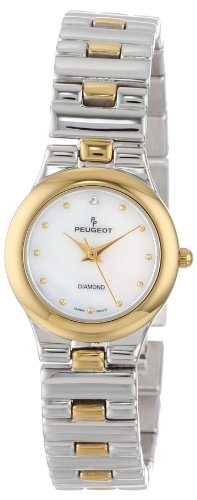 Peugeot Women's 774TT Two-Tone Genuine Diamond Bracelet Watch