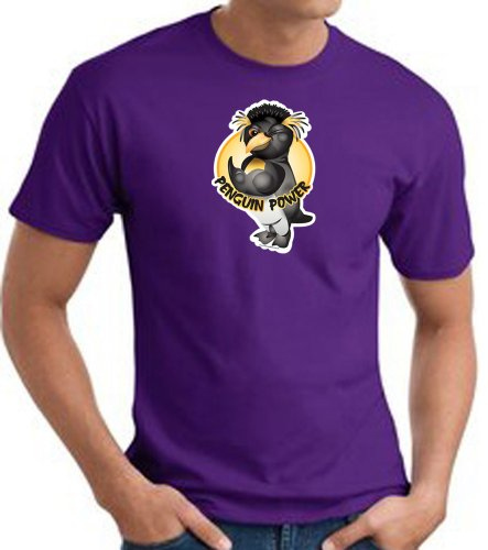 PENGUIN POWER Athletic Gym Workout T-shirt Tee