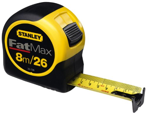 Stanley 33-726 8m/26-Feet by 1-1/4-Inch FatMax Metric/Fractional Tape Rule