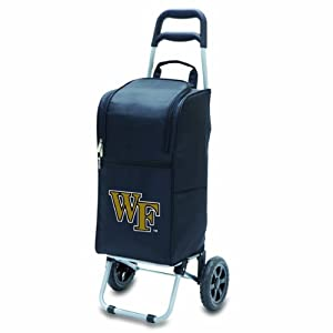 Buy NCAA Wake Forest Demon Deacons Insulated Cart Cooler with Wheeled Trolley, Black by Picnic Time
