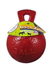 Jolly Pets 8-Inch Tug-n-Toss, Red