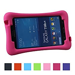 Color Our Life Shockproof Leather Case for Samsung Galaxy Tab 4 7.0-inch Tablet SM- T230 SM-T231 SM-T235 (Rose Color Cover with Kickstand)