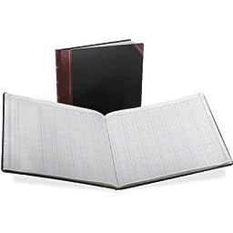 Columnar Book, 24 Column, Black Cover, 150 Pages, 12 7/8 x 15 1/8