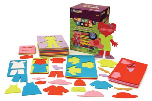 Chenille Kraft Wonderfoam Peel and Stick Design Set Fashion Designer - 1