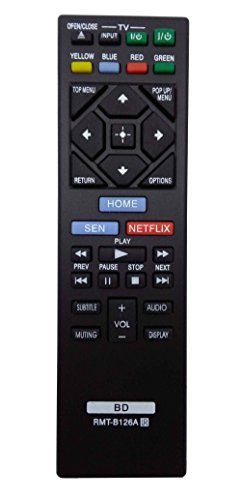 New Replacement Remote Control RMT-B126A for SONY Blu-Ray DVD Player BDP-BX120 BDP-BX320 BDP-BX520 BDP-BX620 BDP-S1200 BDP-S5200/D BDP-S6200 BDP-S2100 BDP-S2200 BDP-S3200 BDP-S5200